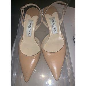 Jimmy Choo tan heels 35.5 preloved condition